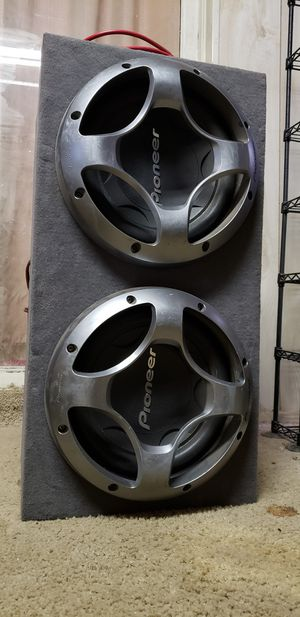Pioneer subs, box, Kenwood amps. for Sale in Scottsdale, AZ
