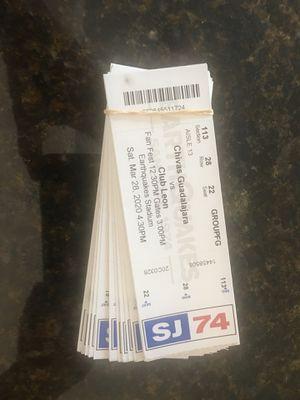 Tickets chivas vs leon avaya for Sale in Concord, CA