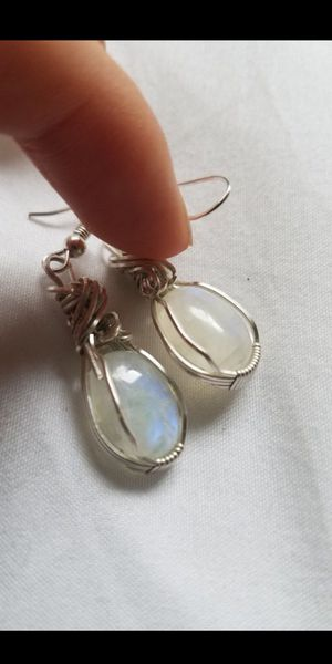 Hand wrapped moonstone earrings for Sale in Phoenix, AZ