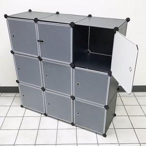 "(NEW) $40 Plastic Storage 9-Cube DYI Shelf with Door Clothing Wardobe 43""x14""x43"" for Sale in Pico Rivera, CA"