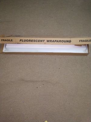 Fluorescent Wraparound Light Fixture with Clear Cover for Sale in Jersey City, NJ