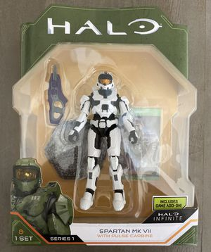 In Hand, Brand New, Never Opened 2020 WCT Series 1 Halo Infinite Spartan MK VII 3.75 Inch Figure with Pulse Carbine and Game Add-On for Sale in Rancho Cucamonga, CA