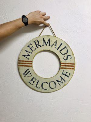 Wall decor mermaid sign for Sale in New Smyrna Beach, FL