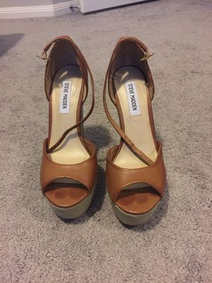 4347f3323dec Cognac Steve Madden wedge for Sale in Richmond
