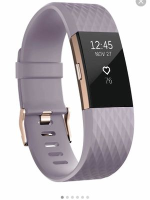 Fitbit charge 2 Rose Gold and Lavender Limited Edition with extra pink band for Sale in Augusta, GA