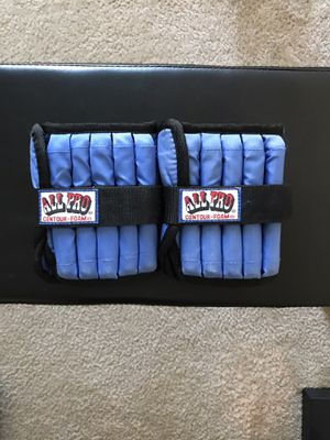All Pro Adjustable Ankle Weights 5 lbs (pair) Total Weight 10 lbs for Sale in Queens, NY