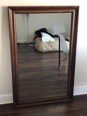 Vintage Large solid wood mirror for Sale in Pasadena, CA