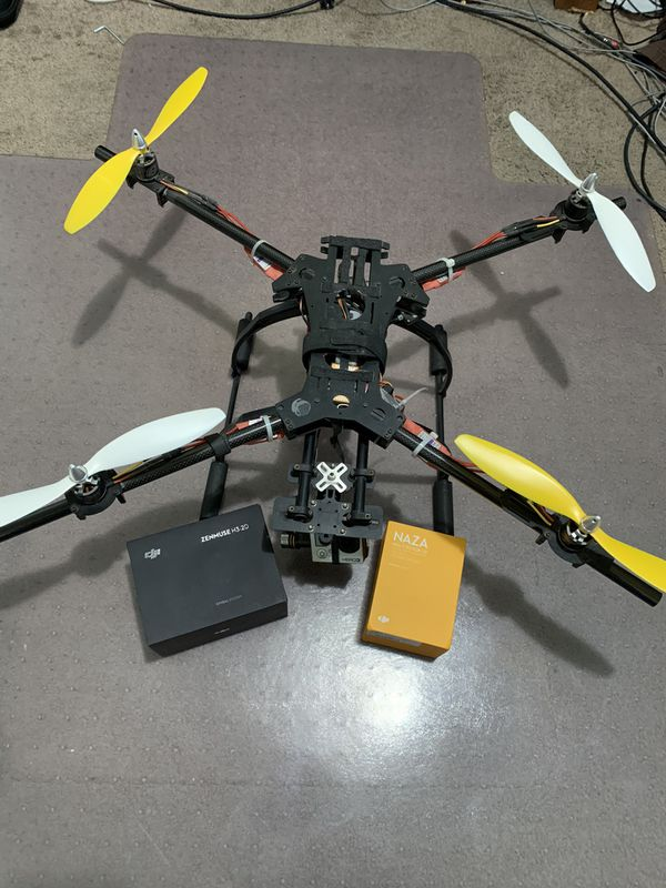 Drone with dji NAZA Multirotor V2 and dji ZENMUSE H3-2D + GoPro Hero3 Black and cases / accessories