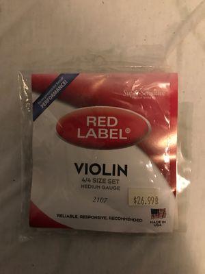 Red Label 4/4 medium gauge violin string for Sale in Fairfield, CT