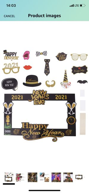 Amosfun 2021 Happy New Year Photo Booth Props New Years Eve Photo Props New Years Eve Party Supplies New-Year Decorations 2021 for Sale in El Monte, CA
