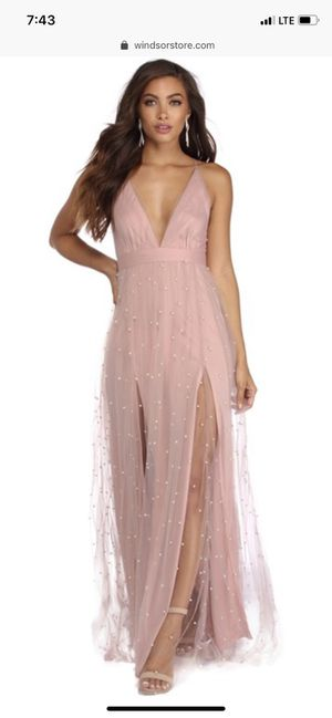 Windsor junior pink mauve prom / homecoming/ bridesmaid / formal dress for Sale in Glendora, CA