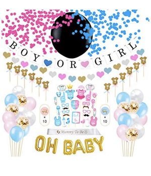 """Gender Reveal Party Supplies 96 Pack 
