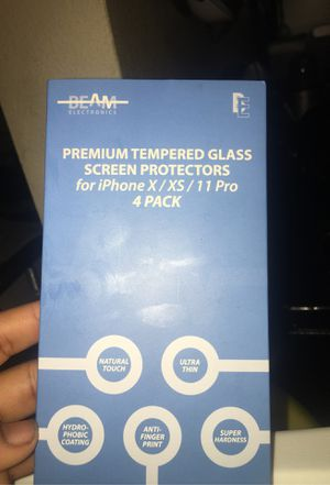 iPhone X screen protector for Sale in Pasadena, CA