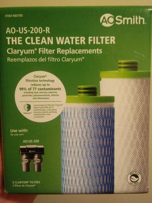 "Ao smith"" water filters retail for $60 asking $20 plus shipping for Sale in Endicott, NY"