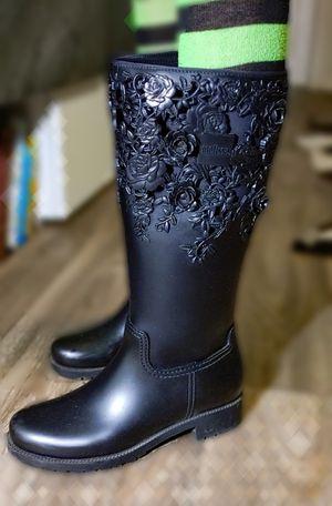 Melissa Black Rubber Rain boots Size 10. for Sale in St. Petersburg, FL