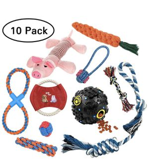 10pack chewable dog toys for Sale in Fort Worth, TX