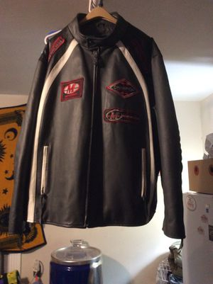 Max USA leather motorcycle jacket for Sale in Rockville, MD