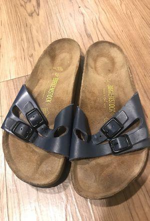 Blue Birkenstock sandals, size 37 (women's US 7) for Sale in Portland, OR