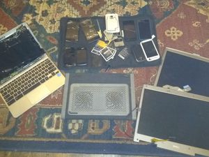 Assorted computer parts and phones SOLD AS LOT for Sale in Magna, UT