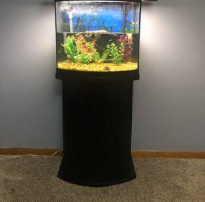 16 gallon bow front fish tank for Sale in Hamilton Township, NJ