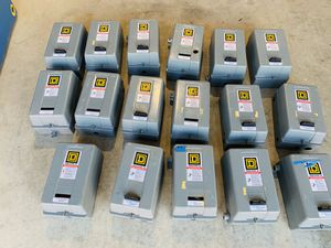 SQUARE D 17 NEMA DIFFERENT SIZE MOTOR STARTERS W/ ENCLOSURE SOLD AS IS for Sale in Edmonds, WA