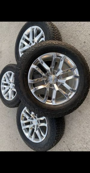 "Like new condition! 20"" GMC / Chevy Rims and Bridgestone Tires 6 Lug 20 Wheels 20s Rines y Llantas Oem factory's factory original Take offs off takeo for Sale in Dallas, TX"