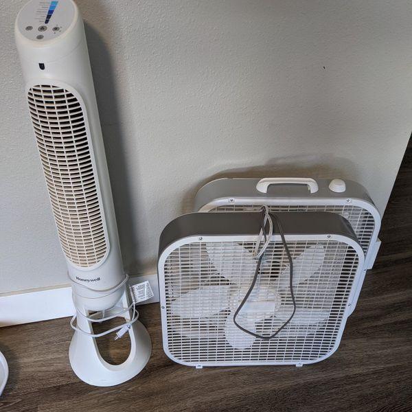 Honeywell Tower Fan + 2 Box Fans