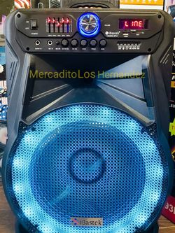 """Bluetooth Speaker 15"""" Wireless Mic 🎤 Super Potente !!! Latest Model EQ / Fully Loaded- Rechargeable 🔋 +++/ AUX/USB/MICROSD INPUT/FM RADIO 🔊 for Sale in Compton,  CA"""