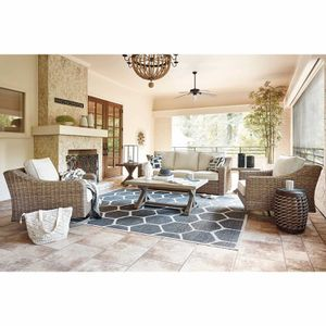New Ashley furniture beachcroft 4pc outdoor patio furniture seating set tax included free delivery for Sale in Hayward, CA