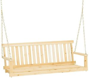 Jennings Traditional 4' Wooden Outdoor Porch Swing w/ Chain Hanging for Sale in Ontario, CA