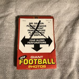 Extra large Topps football cards for Sale in London, OH