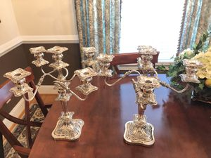 1800s Candelabra with English stamping for Sale in Williamsburg, VA