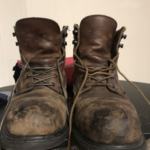Redwing steel toe work boots size 10 for Sale in Revere, MA