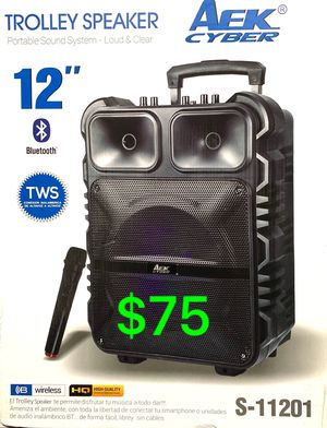 Brand new Bluetooth speaker with wireless microphone 12 inch subwoofer and more for Sale in Las Vegas, NV