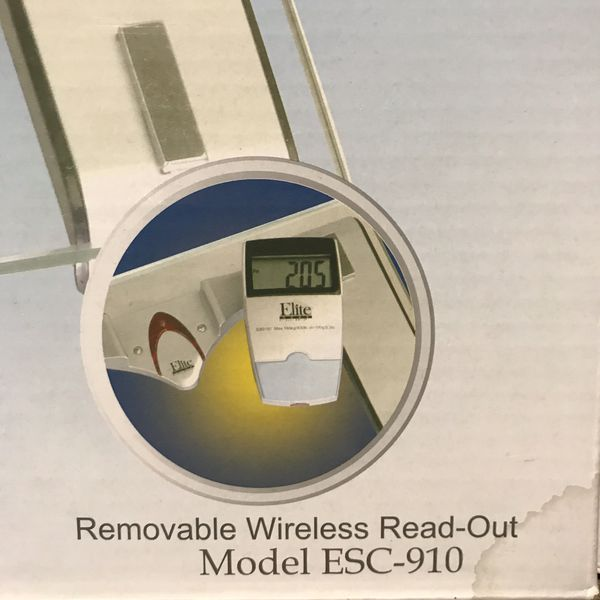 Elite Home By Maxi-Matic Electronic Personal Bathroom Scale