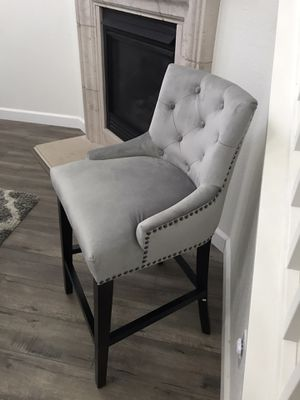 New Grey Suede Accent Chair for Sale in Tracy, CA