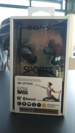 SONY -WF-SP700N SPORT Bluetooth Wireless Noise Cancelling Headphones for Sale in San Bruno, CA