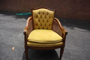 Traditional Wooden Accent Chair with Green Cushion for Sale in Olney, MD