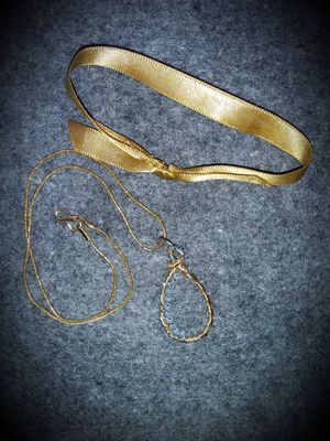 Handmade Pendant attached to 18K Gold Filled Chain for Sale in Robinson Township, PA