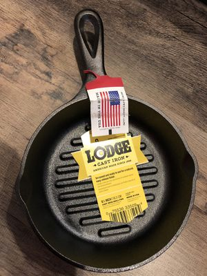 """Lodge 6.5"""" Grill Pan Seasoned Cast Iron Skillet Ridge for Sale in Westminster, CA"""