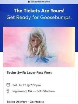 Taylor Swift Lover Fest West Sofi Stadium LOS ANGELES for Sale in Beverly Hills, CA
