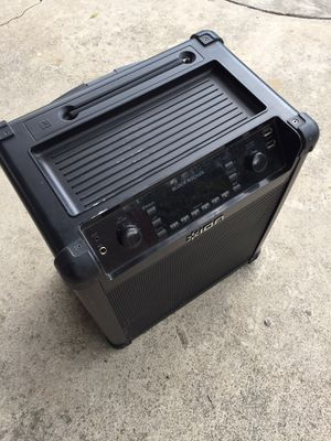ion. Block Rocker. Model. iPA96C. Bluetooth. Radio. Am. Fm. Great conditions. Rechargeable. 20. Hours. Playing. Compare price for Sale in Downey, CA
