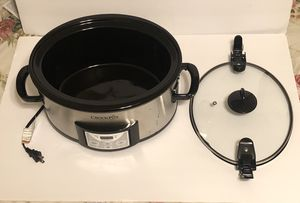Crock Pot- 6 Quart Cook. Slow Cooker with with Digital Timer, Stainless Steel for Sale in Boca Raton, FL