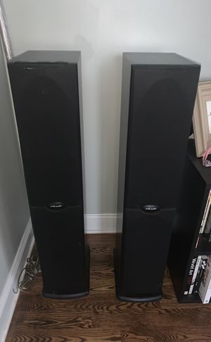 Polk Audio RT 1000I Home Audio Surround Sound Powered Tower Speakers Pair for Sale in Chicago, IL