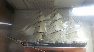 Sail ship Cutty Sark 36in long 24in high sail ship handmade hand tied knot for Sale in Hayward, CA