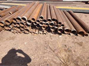 Steel post pipe good for fence post gate Post heavy duty drill pipe for Sale in Phoenix, AZ