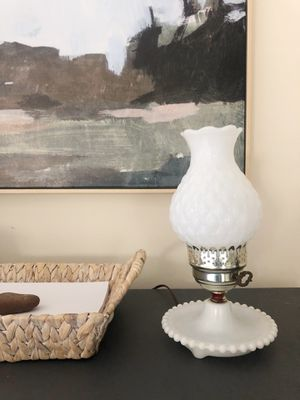 Antique Milk Glass Lamp for Sale in Independence, OH