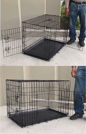 New in box 36x23x25 inches tall 2 doors foldable dog cage crate kennel 70 lbs capacity jaula de perro for Sale in Los Angeles, CA