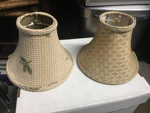 Unique lampshades tan colored for Sale in Chillum, MD