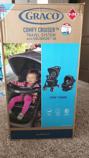 Graco comphy cruiser infant car seat with stroller for Sale in Baton Rouge, LA